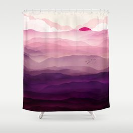 Ultra Violet Day Shower Curtain