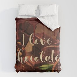 I love chocolate vintage style with cacao Comforters