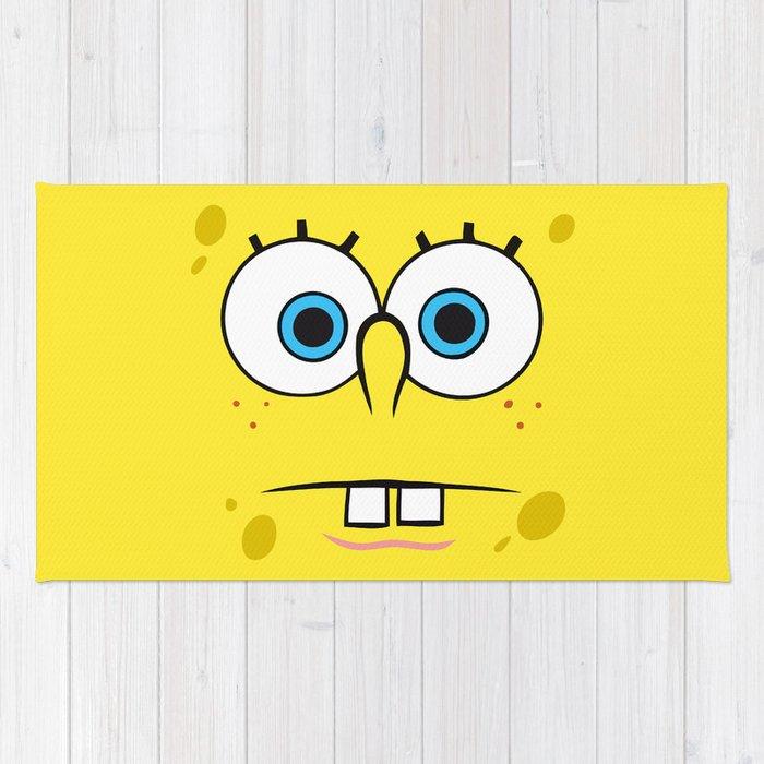 Spongebob Surprised Face Rug