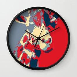 Giraffe for President Wall Clock