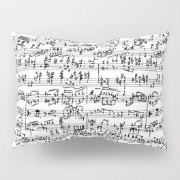 Hand Written Sheet Music Pillow Sham