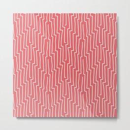 Lovely retro pink stripe pattern for home decor Metal Print