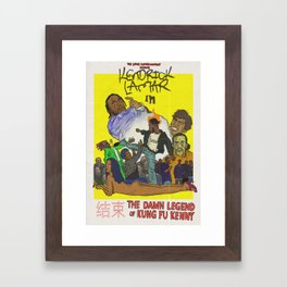 The Damn Legend of Kung-Fu Kenny Framed Art Print