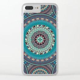 Boho mandala abstract pattern design Clear iPhone Case