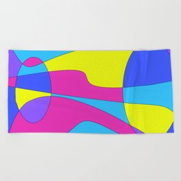 Colors in Sound Neon Beach Towel