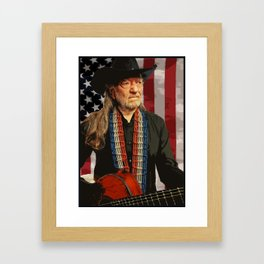 Willie Nelson Framed Art Print