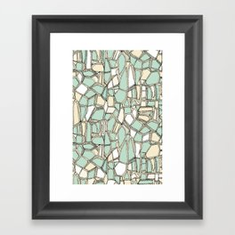 BROKEN POP mint Framed Art Print