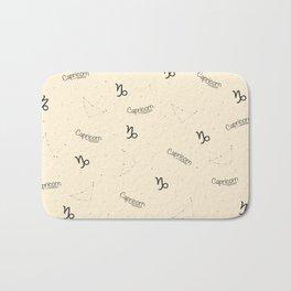 Capricorn Pattern - Beige Bath Mat