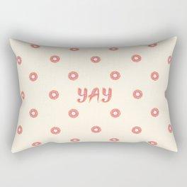 YAY Doughnuts Rectangular Pillow