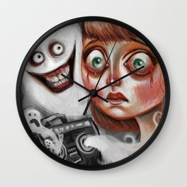 """Scary Songs"" by Kristin Frenzel Wall Clock"