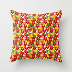 Pixel by pixel – The Birdy Bunch III Throw Pillow