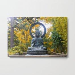 Buddha Meditating Metal Print