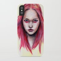 gemma iPhone & iPod Cases featuring Pink Gemma-2012   by Bella Harris