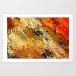Fire's colors Art Print