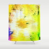 batik Shower Curtains featuring Batik Flowers by MehrFarbeimLeben