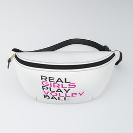 Real girls play volley ball Fanny Pack