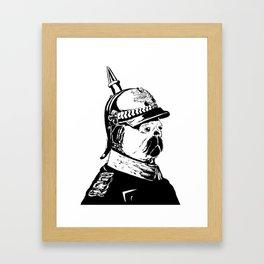 The Emperor Pug Framed Art Print