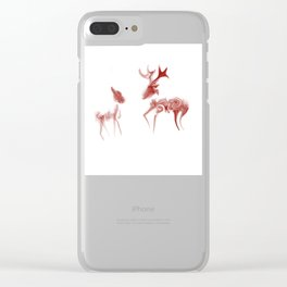 Java Deer Clear iPhone Case