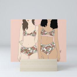 Girls in Florals Mini Art Print