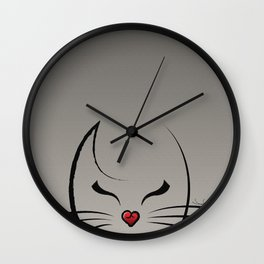 Peek-a-Boo Kitty Wall Clock