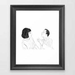 Portrait of Nina Simone and James Baldwin Framed Art Print