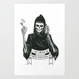 Cousin death Art Print