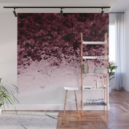 Burgundy CrYSTALS Ombre Gradient Wall Mural