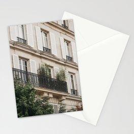 Beautiful Paris Building | Paris travel photography | Bright art print Stationery Cards