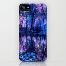 Enchanted Forest Lake Purple Blue iPhone (5, 5s) Slim Case