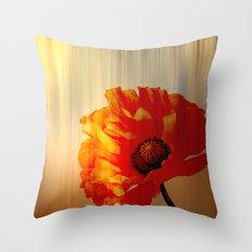 Copper Poppy Throw Pillow