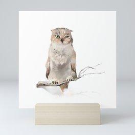Who-who? Mini Art Print