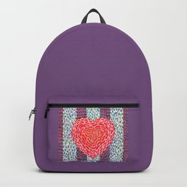High Energy Squiggle Heart - Impressionist Heart Art Backpack