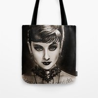audrey Tote Bags featuring Audrey  by Isaiah K. Stephens