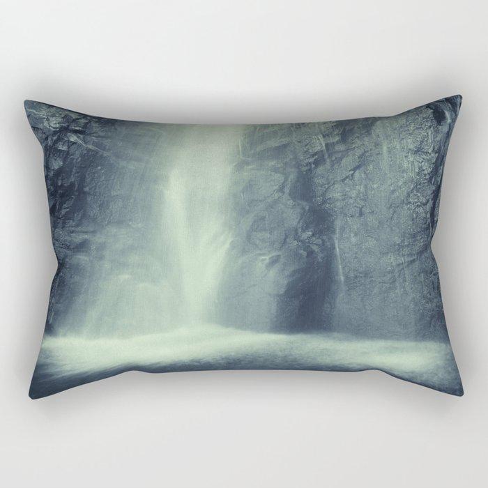 """Waterfall at the mountains"". Retro series Rectangular Pillow"