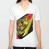 metal gear V-neck T-shirts featuring Metal Gear Rising by Hypertwenty