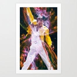 freddie overlay Art Print