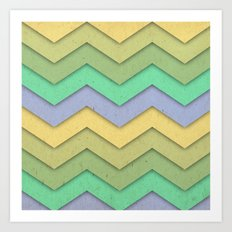 Spring day Chevron Art Print