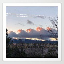 Reno skies Art Print