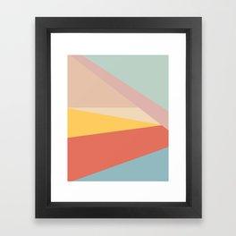 Retro Abstract Geometric Framed Art Print