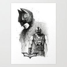Bat In Black (The Dark Knight Rises) Art Print