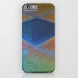 Blue Diamond Squared iPhone Case