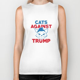 Cats Against Trump Biker Tank