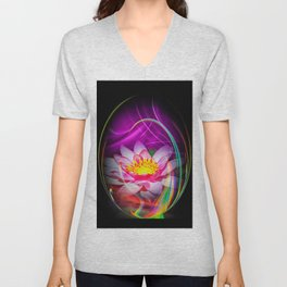 Wellness Water Lily 4 Unisex V-Neck
