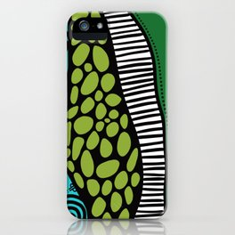 Green Dive -Plongeon vers-textures iPhone Case