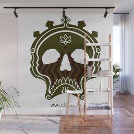 Skull Bronze Wall Mural