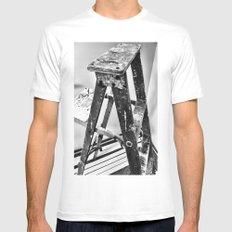 Painter's Ladder MEDIUM White Mens Fitted Tee