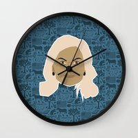 leslie knope Wall Clocks featuring Leslie Knope - Parks and recreation by Kuki