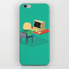 Nerd playing Pong iPhone & iPod Skin