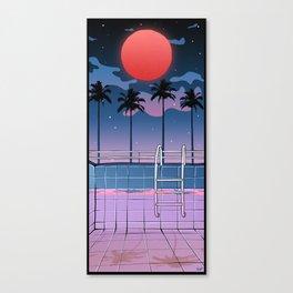 SOUTH BEACH PALMS Canvas Print