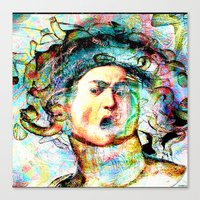 mythology Canvas Prints featuring Mythology by Joe Ganech